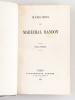 Mémoires du Maréchal Randon (2 Tomes - Complet) [ Edition originale ]. RANDON, Maréchal [ RANDON, Jacques Louis (1795-1871) ]