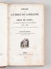 Histoire de la Guerre de Lorraine et du Siège de Nancy, par Charles le Téméraire, Duc de Bourgogne 1473-1477 [ Edition originale ]. HUGUENIN Jeune