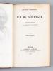 Oeuvres complètes de P. J. de Béranger (2 Tomes - Complet). BERANGER, P. J. de