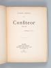 Confiteor 1888-1890 [ Edition originale - Livre dédicacé par l'auteur à Sully-Prudhomme ]. TRARIEUX, Gabriel