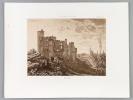 Rauzan [ Eau-forte originale extraite de la Guienne Militaire, Planche 29 : Château de Rauzan ]. DROUYN, Léo