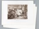 Bourg. Porte du Fort (Extérieur) [ On joint : ] [ Plans et vues de détails de Bourg ]  [ On joint : ]  Crypte de la Libarde [ Eaux-fortes originales ...