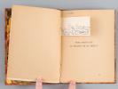Vers écrits sur la Colline de Du Bellay [ Edition originale - Avec une carte autographe signée par l'auteur ]. PINGUET, Auguste