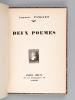 Deux Poèmes [ Edition originale - Livre signé par l'auteur ]. PINGUET, Auguste ; LANDELLE, A.