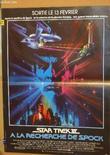 AFFICHE DE CINEMA - STAR TREK III - A LA RECHERCHE DE SPOCK. WILLIAM SHATNER - DeFOREST KELLY - JAMES DOOHAN -