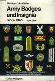ARMY BADGES AND INSIGNIA SINCE 1945, BOOK ONE. ROSIGNOLI GUIDO