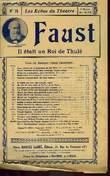 FAUST, IL ETAIT UN ROI A THULE. GOUNOD CHARLES / BARBIER J. / CARRE M.