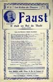 FAUST, IL ETAIT UN ROI DE THULE. GOUNOD CHARLES / BARBIER J. / CARRE M.