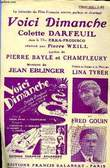 VOICI DIMANCHE. EBLINGER JEAN / BAYLE PIERRE / CHAMFLEURY R.