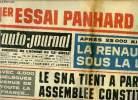 L'AUTO JOURNAL N° 343 - 1er essai Panhard 24 CT, Après 25 000 km la Renault R 8 sous la loupe, Le SNA tient a Paris son assemblée constituante, Une ...