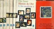 Histoire de l'art - coffret en 5 voulmes - art antique, art médiéval, art renaissant ,art moderne 1 et 2. Faure Elie