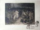 1916. Groupe de Poilus. . STEINLEN.