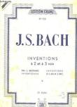 Inventions à 2 et à 3 voix. 1ère partie : 15 inventions à 2 voix.. BACH JEAN-SÉBASTIEN, RÉVISÉ PAR OSWIN KELLER.