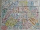 Carte Taride : Nouveau plan de Paris avec toutes les lignes du Métropolitain (1/17250) / Banlieue parisienne (1/50000). Collectif