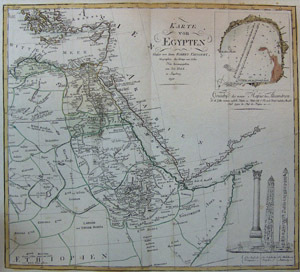 Karte von Egypten. Vaugondy, Robert (1688–1766), Royal geographer