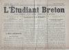 L'Etudiant Breton. Organe bi-mensuel de la jeunesse universitaire de Bretagne..