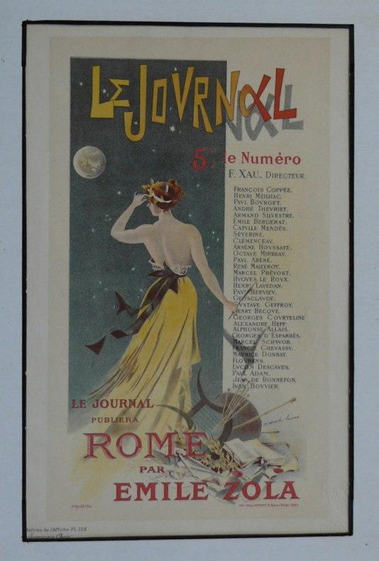 Le Journal publiera Rome par Emile Zola. . ZOLA ; LUCAS (Ch.)