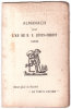 """Almanach pour l'an de N.S. Jésus-Christ. 1908. Edité pour la Société """"LE VIEUX PAPIER"""".."""