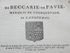 Généalogie de la famille de Beccarie de Pavie, marquis de Fourquevaux, en Languedoc. HOZIER (Louis Pierre d') et d'HOZIER DE SERIGNY