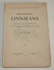 Bibliographia Linnaeana. Matériaux pour servir à une bibliographie linnéenne. Partie I, livraison I. HULTH (J. M.)