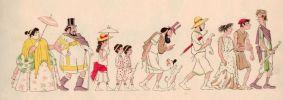 Les courses dans l'Antiquité. . CARAN d'ACHE.