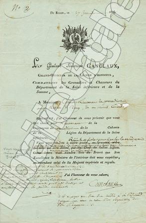 2 pièces signées,. Canclaux (Jean-Baptiste-Camille), comte :