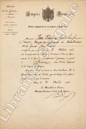 Pièce signée,. Randon (César-Alexandre) :