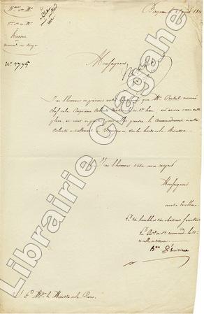 2 Lettres signées,. L'Huillier de Hoff (B. Fr.) ;
