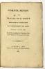 Compte rendu des Travaux de la Société d'Emulation et d'Agriculture du Département de l'Ain pendant l'année 1807.. MOYRIA, Gabriel de :