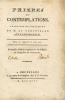 Prières et Contemplations. Traduit de l'allemand [par Goswin J.A., baron de Stassart]. Nouvelle édition augmentée des Vêpres et Complies du Dimanche.. ...