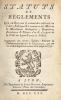 Statuts et règlements que le Roi veut et entend être observés en l'Art, Fabrique et Commerce des Maîtres et Marchands Guimpiers, Gazetiers, Ecacheurs ...