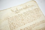 Projet manuscrit d'accord entre Charles de Lorraine, duc de Mayenne, chef de la Ligue et le Roi Henri IV pour la fin de la Ligue et la reconnaissance ...