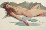 Réflexions morales sur la Mode, l'Amour et l'Epiderme des Femmes. Aquarelle-frontispice de Louis Suire.. Talvart (Hector) :