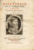 Hierusalem (La) du Sr Torquato Tasso rendue française par B.D.V.B. (Blaise de Vigenère, bourbonnais). Portrait gravé par Thomas de Leu.. Tasse, Le ...