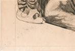 Buffle macédonien, Salonique, 1917.. Jouve (Paul ; 1878-1973), peintre et sculpteur animalier :