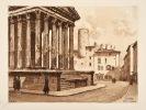 Vienne la belle. Texte liminuré de André Chagny. Eaux-fortes et dessins de Joanny Drevet.. Drevet (Joanny ; 1889-1969) :