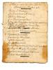 """Pamphlet populaire manuscrit sous la forme d'une chanson:""""Noël de 1763, sur l'air de Tous les Bourgeois de Chartre"""". . [Pamphlet époque Louis XV]"""