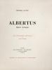 Albertus, légende théologique. Lithographies originales de Louis Morin.. Gautier, Théophile :
