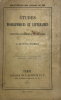 Etudes biographiques et littéraires sur quelques célébrités étrangères. Le Cavalier Marino. Anne Radcliffe. Paracelse. Jérôme Vida.. Le Fevre Deumier, ...
