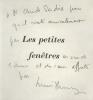 Petites (Les) Fenêtres. Avec 5 dessins d'André Beaurepaire.. Henry, Lucien :