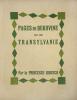 Pages de Bukovine et de Transylvanie. Avec un portrait par L.J. Soulas (gravé sur bois).. Bibesco, Princesse (Marthe Lahovary) :