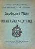 Contribution à l'Etude de la Morale Laïque Scientifique. Loge Les Droits de l'Homme.. Martin, F.: :