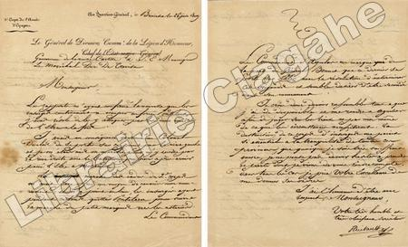 4 pièces manuscrites.. Thiébault (Paul-Charles-François, baron) :