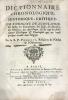 Dictionnaire chronologique, historique, critique, sur l'origine de l'Idolatrie, des Sectes des Samaritains, des Juifs, des Hérésies, des Schismes, des ...