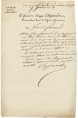 2 pièces manuscrites relatives à cette colonie :. [Saint-Domingue]