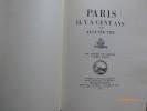 Paris il y a Cent Ans. (Vers 1780) 490 Dessins de l'époque d'après Nature.. VITU, Auguste.