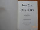 Louis XIV Mémoires. Présentés et Annotés par Jean Longnon. Nouvelle édition revue et corrigée.. LONGNON, Jean.