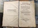 Mémoires pour servir à l'histoire, Expéditions en Egypte et en Syrie. J.Miot