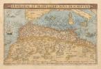 FESSAE, ET MAROCCHI REGNA AFRICAE CELEBERR. [Et] BARBARIAE ET BILEDULGERID, nova descriptio. [2 cartes du MAROC].            . ORTELIUS (Abraham).