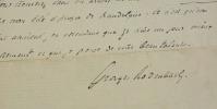 LETTRE AUTOGRAPHE SIGNÉE adressée à JULES BOIS.. RODENBACH (Georges) - BOIS (Jules).
